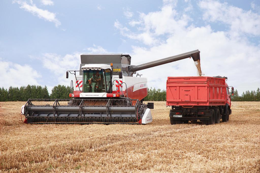 Отгрузка зерна с ACROS 580