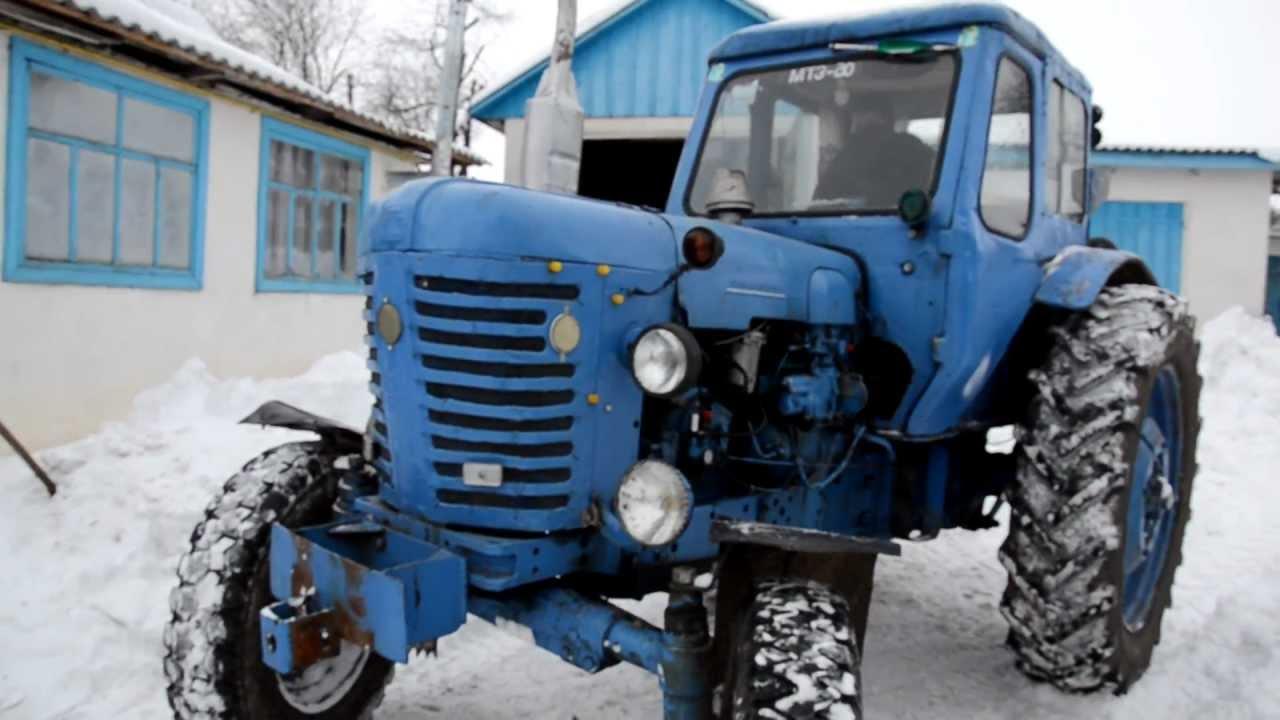 Трактор МТЗ-50 зимой