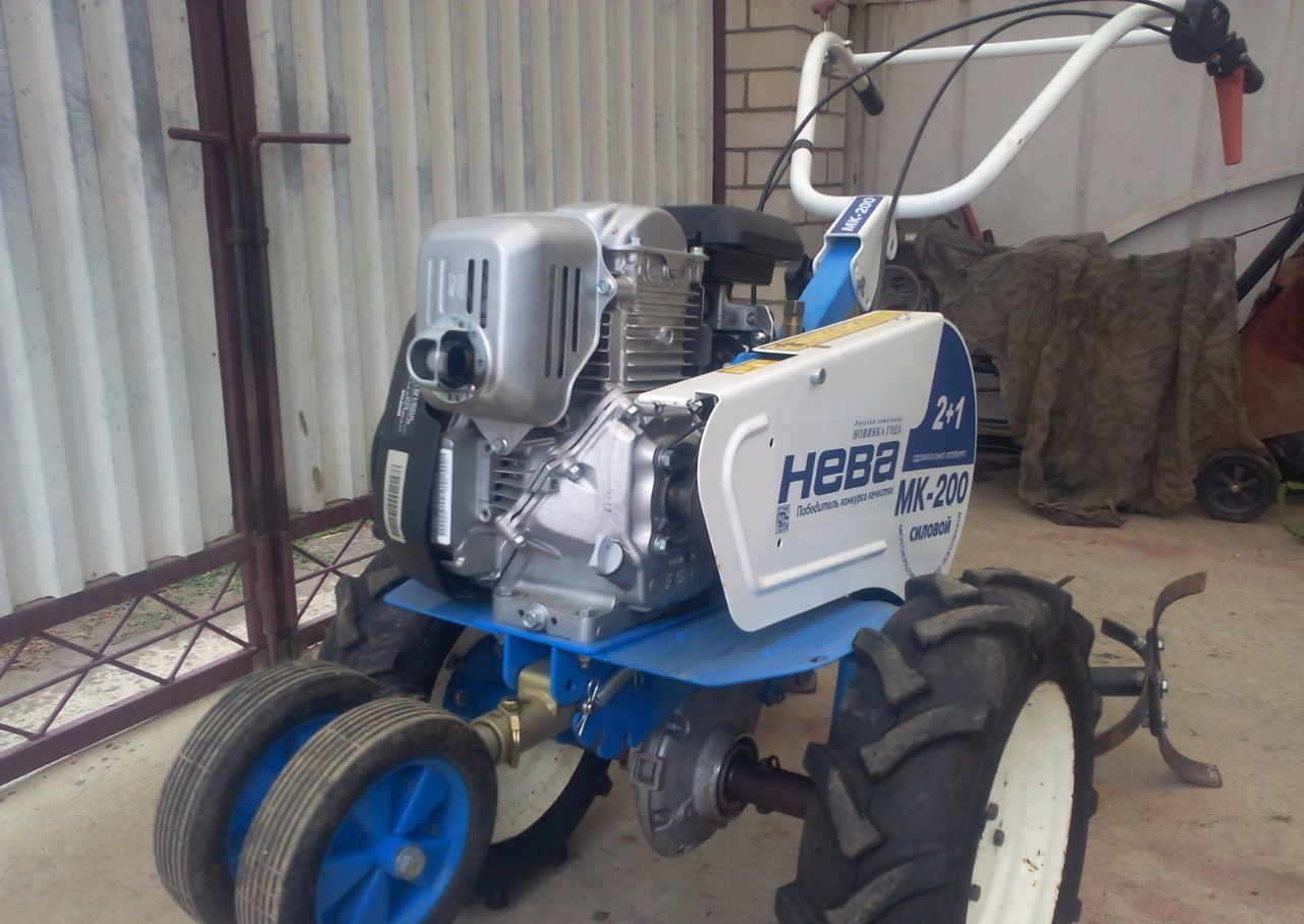 Мотокультиватор Нева МК-200 готовый к работе