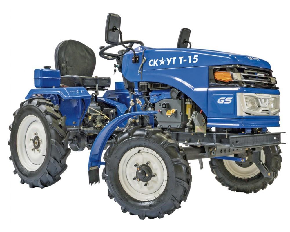 Внешний вид мини-трактора Скаут Т-15