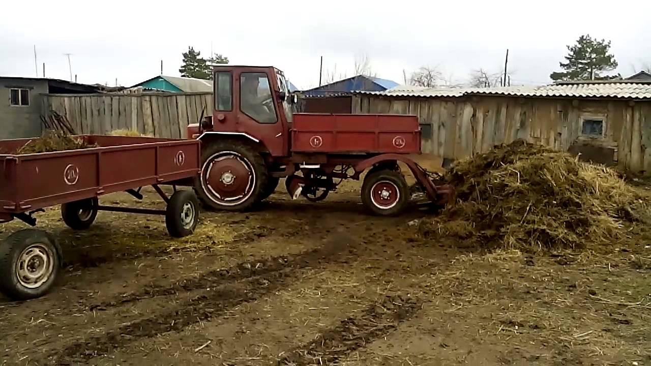 Трактор Т-16 в работе
