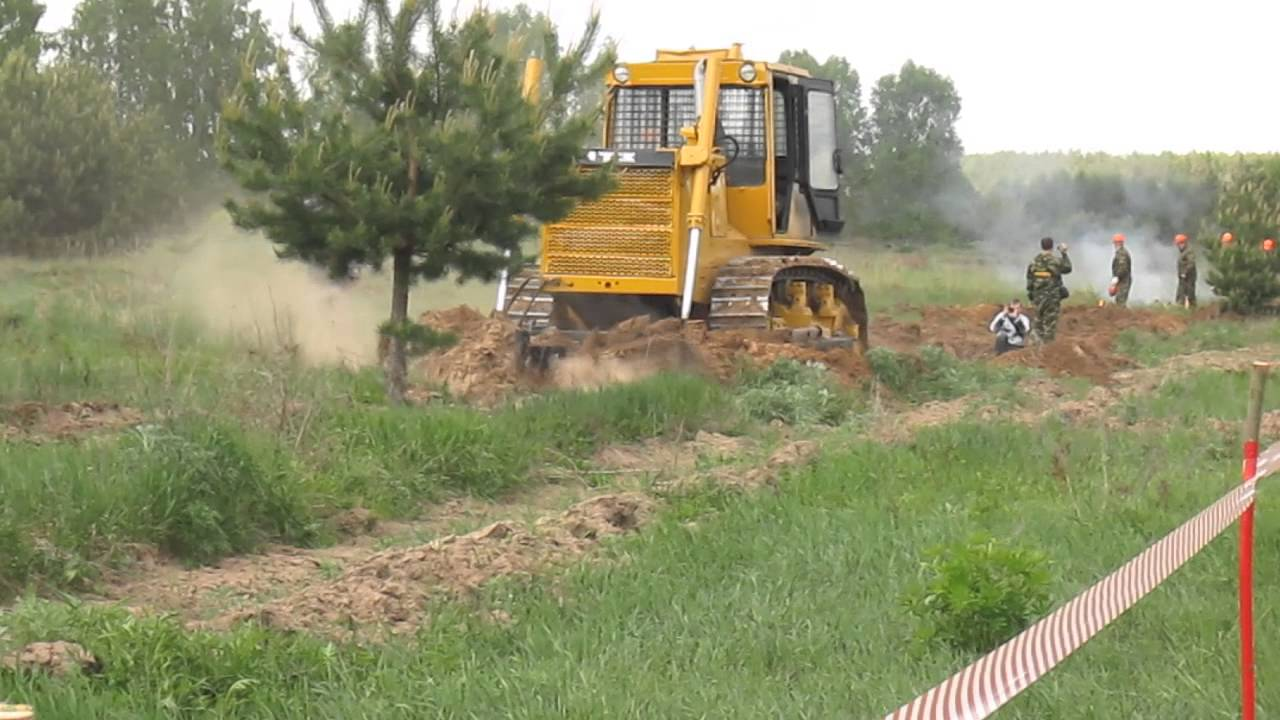 Трактор Т-170 в работе