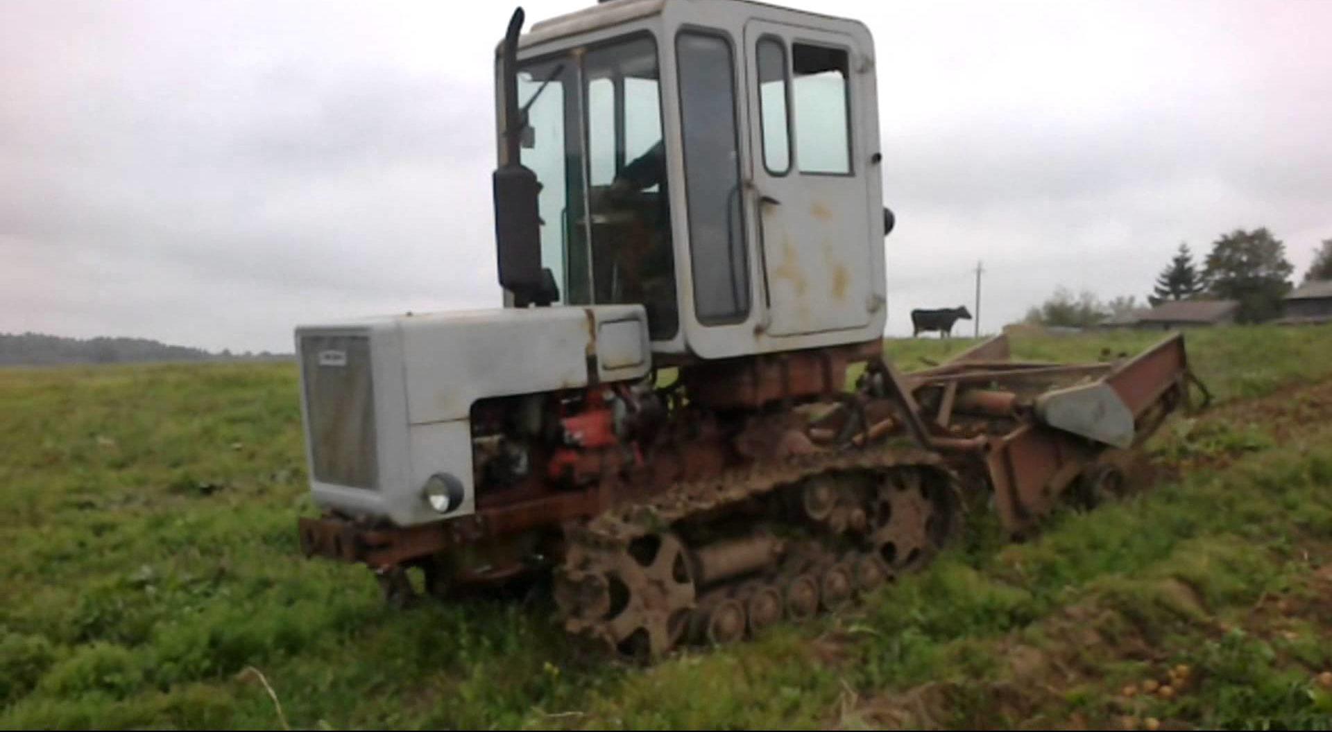 Трактор Т-70 в поле